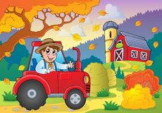Tema 5 de la granja del otoño libre illustration