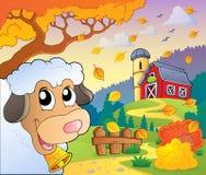 Tema 6 de la granja del otoño ilustración del vector