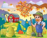 Tema 9 de la granja del otoño Imagen de archivo libre de regalías