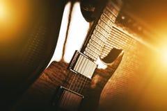 Tema de la guitarra eléctrica Imágenes de archivo libres de regalías