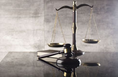 Tema de la ley y de la justicia foto de archivo