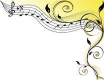 Tema de la música Fotografía de archivo libre de regalías