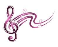 Tema de la música con las notas libre illustration