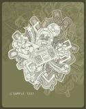 Tema de la música del dibujo lineal Imágenes de archivo libres de regalías