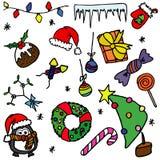 Tema de la Navidad Imágenes de archivo libres de regalías