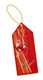 Tema de la Navidad de la escritura de la etiqueta Fotos de archivo libres de regalías
