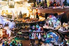 Tema de la Navidad en el mercado de la Navidad Fotografía de archivo