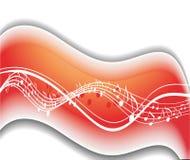 Tema de la onda de las notas de la música stock de ilustración