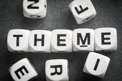 Tema de la palabra en los cubos del juguete Imagen de archivo libre de regalías
