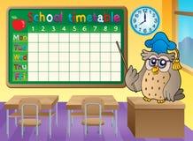 Tema 3 de la sala de clase del calendario de la escuela Imágenes de archivo libres de regalías