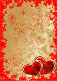 Tema de la tarjeta del día de San Valentín Fotografía de archivo libre de regalías