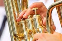 Tema de la tuba Fotografía de archivo libre de regalías
