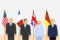 Tema de los líderes políticos Foto de archivo