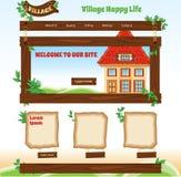 Tema de madeira do país para o molde da Web Imagens de Stock Royalty Free