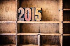 Tema de madera 2015 de la prensa de copiar del concepto Fotos de archivo