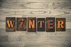 Tema de madera de la prensa de copiar del invierno Foto de archivo libre de regalías