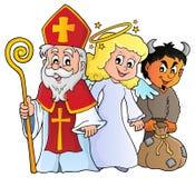 Tema 1 de Nicholas Day del santo stock de ilustración