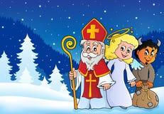Tema 4 de Nicholas Day de Saint ilustração stock