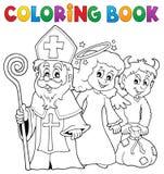 Tema 1 de Nicholas Day de Saint do livro para colorir ilustração royalty free