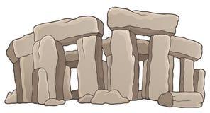 Tema de pedra antigo 1 do monumento ilustração do vetor