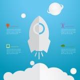 Tema de Rocket, gráficos de la información Imagen de archivo libre de regalías