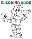 Tema 1 del actor del libro de colorear Imágenes de archivo libres de regalías