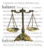 Tema del balance Imagen de archivo