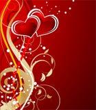 Tema del biglietto di S. Valentino illustrazione vettoriale