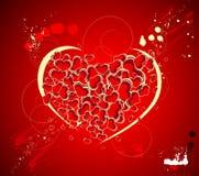 Tema del biglietto di S. Valentino illustrazione di stock