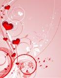 Tema del biglietto di S. Valentino Immagine Stock
