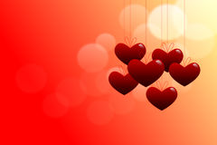 Tema del biglietto di S. Valentino Fotografia Stock