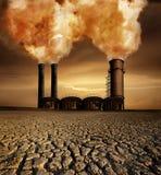Tema del calentamiento del planeta Imagenes de archivo