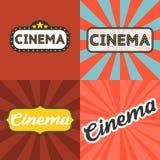 Tema del cinema Immagini Stock