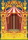 Tema del circo del vintage del cartel del carnaval ilustración del vector