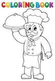Tema 1 del cocinero del libro de colorear ilustración del vector
