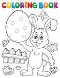 Tema 9 del conejo de Pascua del libro de colorear Foto de archivo