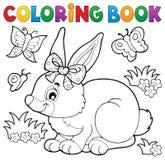 Tema 3 del conejo del libro de colorear ilustración del vector