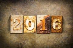 Tema 2016 del cuero de la prensa de copiar del concepto Foto de archivo libre de regalías