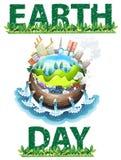 Tema del Día de la Tierra Fotos de archivo
