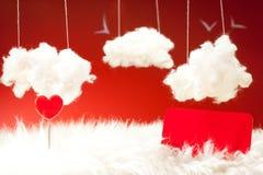 Tema del día de tarjeta del día de San Valentín Fotografía de archivo