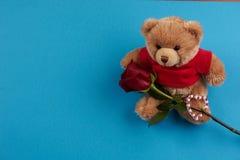 Tema del día del ` s de la tarjeta del día de San Valentín Foto de archivo libre de regalías