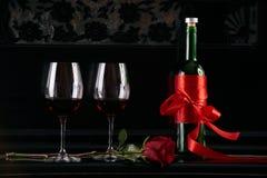 Tema del día del ` s de la tarjeta del día de San Valentín Imagen de archivo libre de regalías