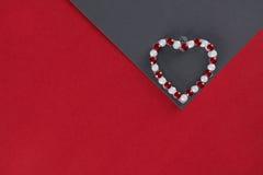 Tema del día del ` s de la tarjeta del día de San Valentín Fotografía de archivo libre de regalías