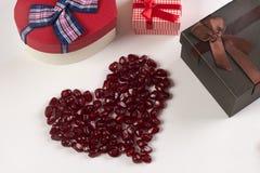 Tema del día del ` s de la tarjeta del día de San Valentín Imagen de archivo