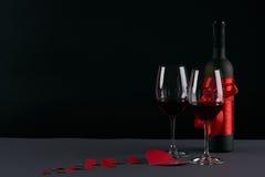 Tema del día del ` s de la tarjeta del día de San Valentín Fotos de archivo libres de regalías
