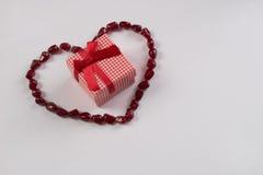 Tema del día del ` s de la tarjeta del día de San Valentín Fotografía de archivo