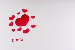 Tema del día del ` s de la tarjeta del día de San Valentín Imagenes de archivo