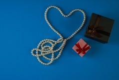 Tema del día del ` s de la tarjeta del día de San Valentín Foto de archivo
