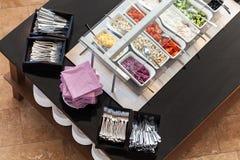 Tema del desayuno de la comida fría Imagen de archivo