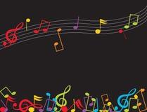 Tema del diseño de la música Fotos de archivo libres de regalías